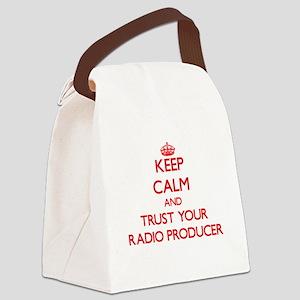 Keep Calm and trust your Radio Producer Canvas Lun