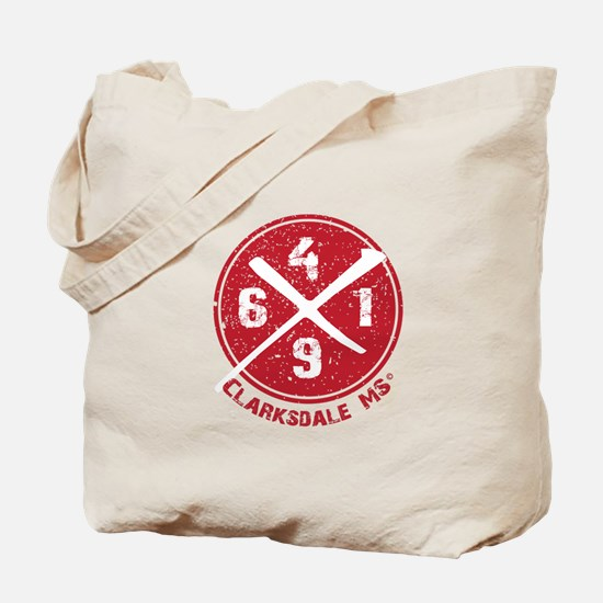 61/49 Crossroads Symbol - Red Field Design Tote Ba