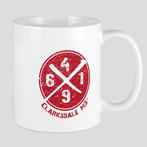 61/49 Crossroads Symbol - Red Field Design Mugs