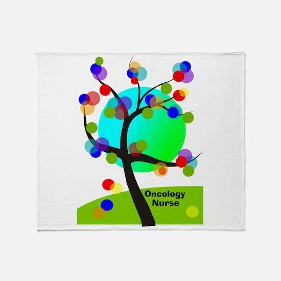 Oncology Nurse 6 Throw Blanket