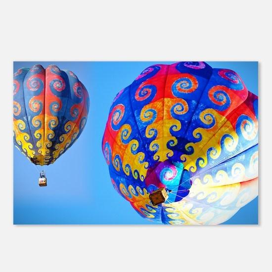 Tye Dye Hot Air Balloon Postcards (Package of 8)