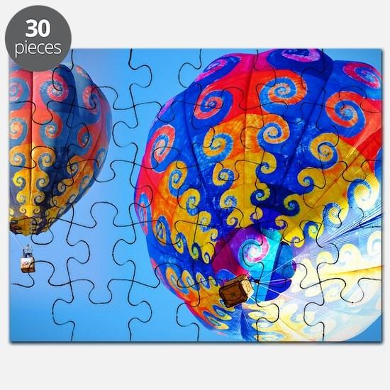 Tye Dye Hot Air Balloon Puzzle