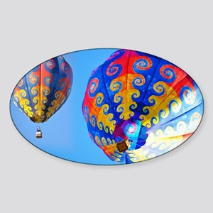 Tye Dye Hot Air Balloon Sticker (Oval)