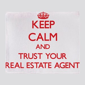 Keep Calm and trust your Real Estate Agent Throw B