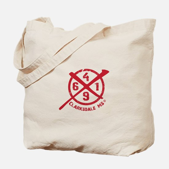 61/49 Crossroads Symbol - Open Red Design Tote Bag
