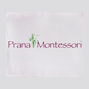 Prana Montessori Logo Throw Blanket