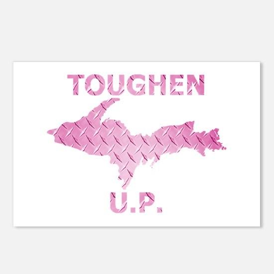Toughen U.P. In Pink Diamond Plate Postcards (Pack