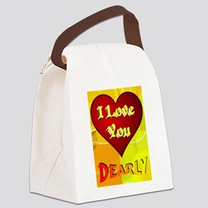 I Love You Dearly Canvas Lunch Bag