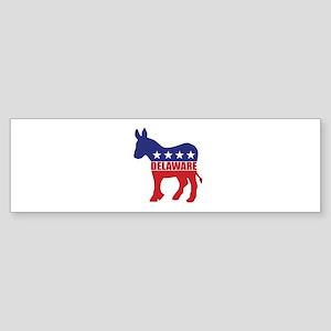 Delaware Democrat Donkey Bumper Sticker