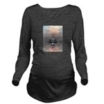 Mysterious Metallic Structure Long Sleeve Maternit