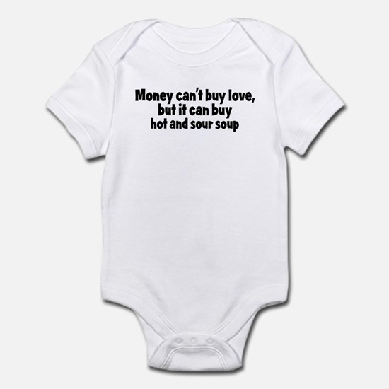hot and sour soup (money) Infant Bodysuit