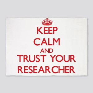 Keep Calm and trust your Researcher 5'x7'Area Rug