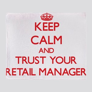 Keep Calm and trust your Retail Manager Throw Blan