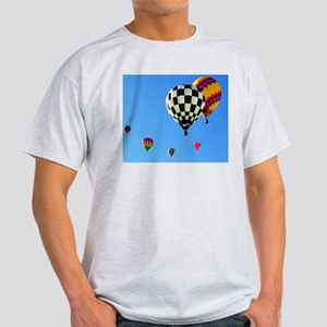 Hot Air Balloon Cluster 2 Light T-Shirt
