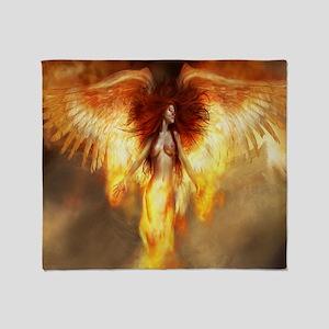 Beautiful Fire Angel Throw Blanket