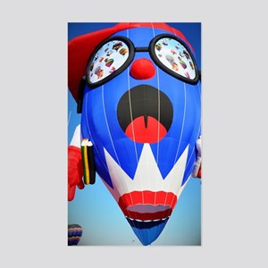 Cool Dude Hot Air Balloon Sticker (Rectangle)
