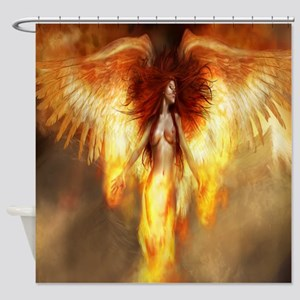 Beautiful Fire Angel Shower Curtain