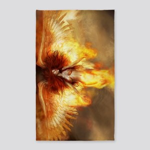 Beautiful Fire Angel 3'x5' Area Rug
