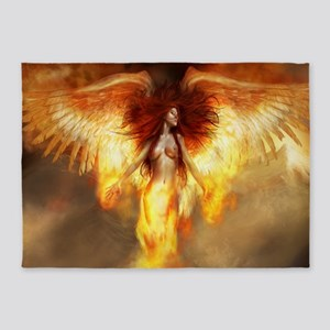 Beautiful Fire Angel 5'x7'Area Rug