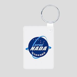 N Korea Space Agency Aluminum Photo Keychain