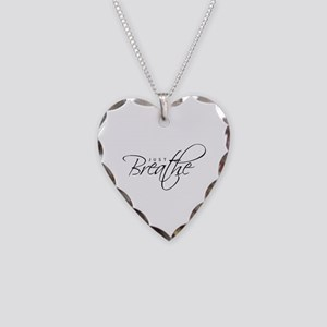 Just Breathe - Necklace Heart Charm