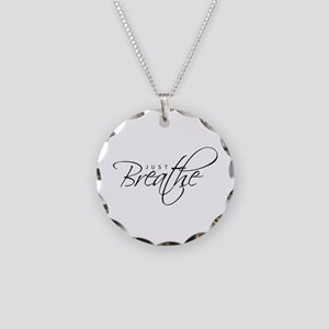 Just Breathe -Necklace Circle Charm