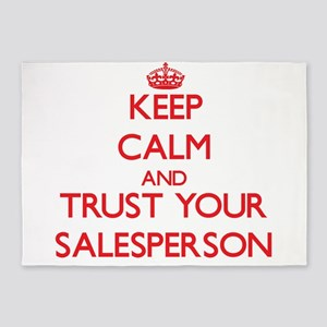 Keep Calm and trust your Salesperson 5'x7'Area Rug