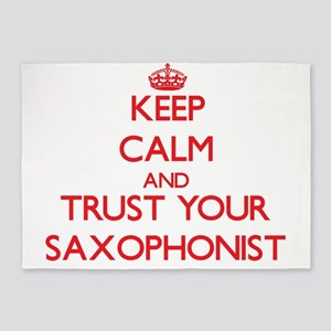 Keep Calm and trust your Saxophonist 5'x7'Area Rug