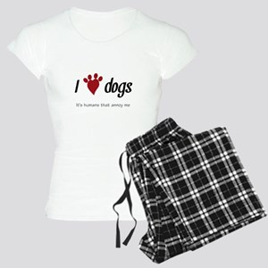 I Heart Dogs Women's Light Pajamas