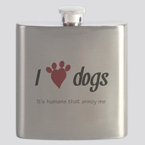 I Heart Dogs Flask