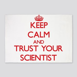 Keep Calm and trust your Scientist 5'x7'Area Rug