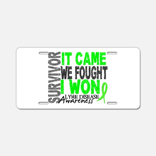 Lyme Disease Survivor 2 Aluminum License Plate