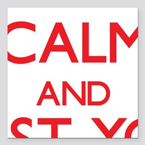 Keep Calm and trust your Scout Square Car Magnet 3