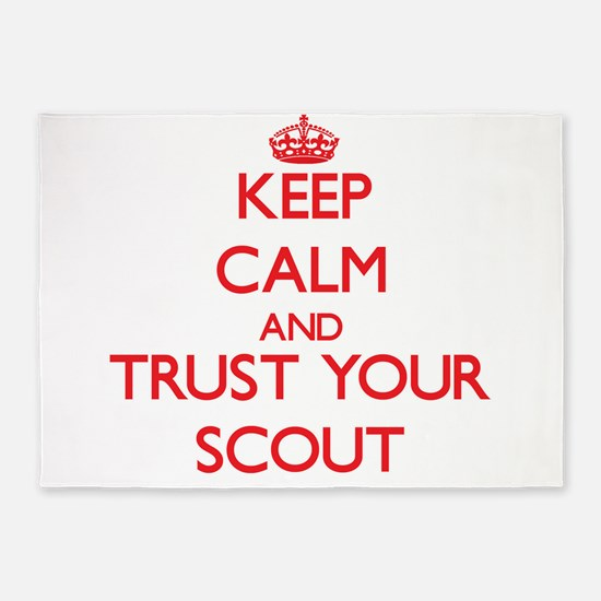 Keep Calm and trust your Scout 5'x7'Area Rug