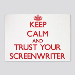 Keep Calm and trust your Screenwriter 5'x7'Area Ru