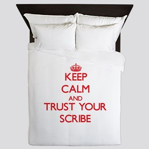 Keep Calm and trust your Scribe Queen Duvet