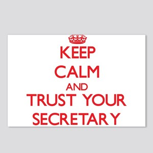 Keep Calm and trust your Secretary Postcards (Pack
