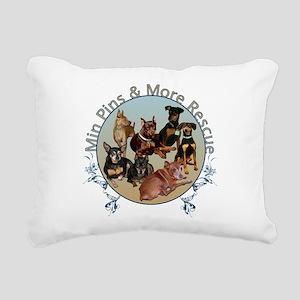 MPMR Flourish Logo Rectangular Canvas Pillow