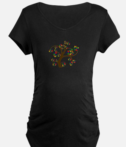 Puzzled Tree of Life Maternity T-Shirt