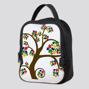 Puzzled Tree of Life Neoprene Lunch Bag
