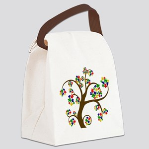 Puzzled Tree of Life Canvas Lunch Bag