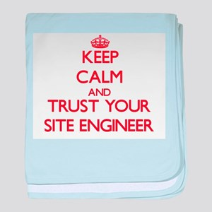 Keep Calm and trust your Site Engineer baby blanke