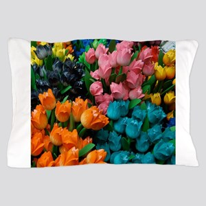Floral Amsterdam Multi Colored Tulips Pillow Case