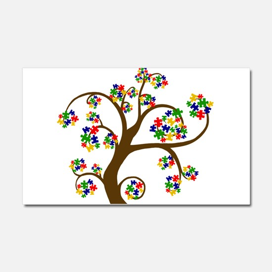 Puzzled Tree of Life Car Magnet 20 x 12