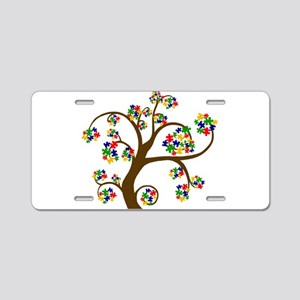 Puzzled Tree of Life Aluminum License Plate