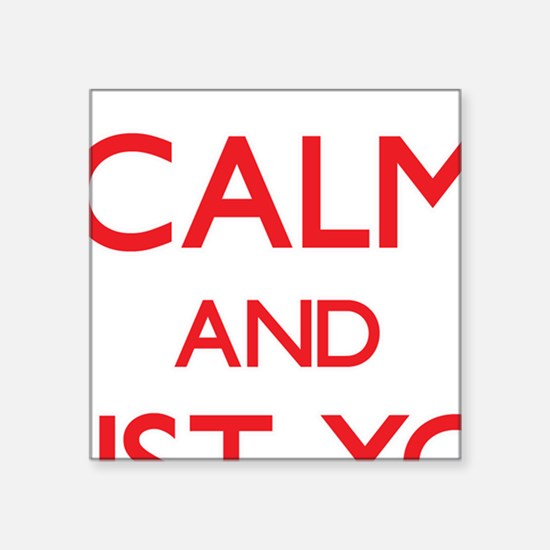 Keep Calm and trust your Social Worker Sticker