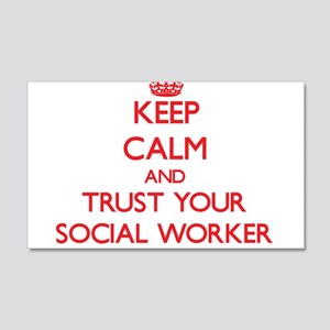 Keep Calm and trust your Social Worker Wall Decal