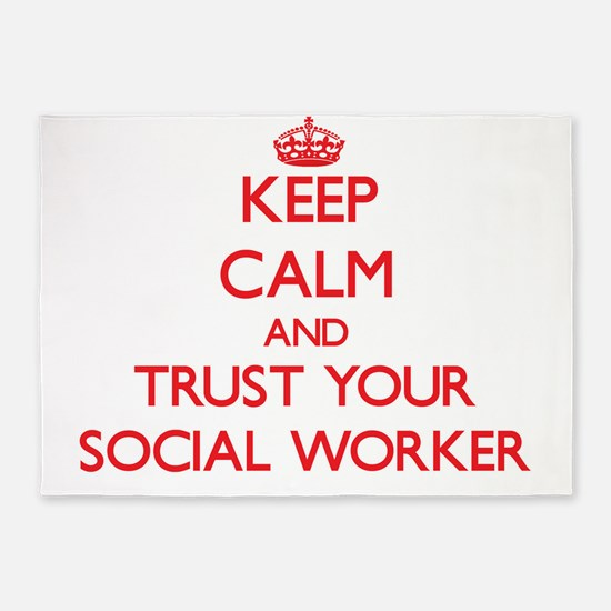 Keep Calm and trust your Social Worker 5'x7'Area R