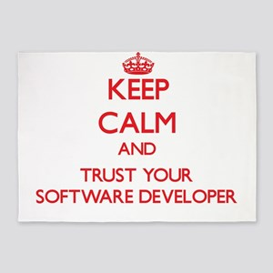 Keep Calm and trust your Software Developer 5'x7'A