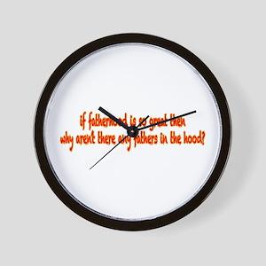 Fatherhood Wall Clock